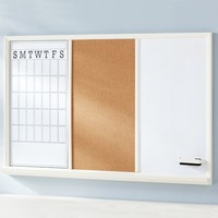 Study Wall Boards - White Frame Triple