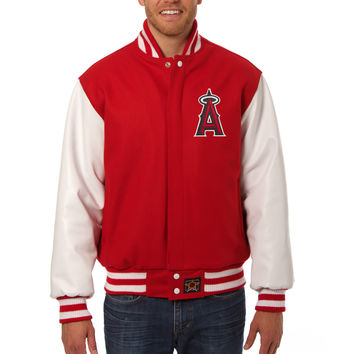 Los Angeles Angels Wool And Leather Varsity Jacket