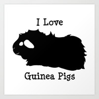 I Love Guinea Pig - Abyssinian Art Print by Piggie Problems
