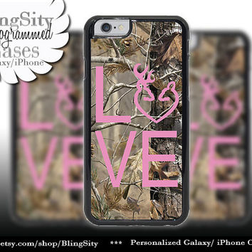 Camo Browning Buck Love iPhone 5C 6 Plus Case Pink Doe Heart Deer iPhone 5s 4 case Ipod Cover real tree camo Country Inspired Girl