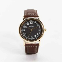 Breda Contrast Stitch Watch- Brown One