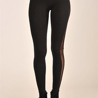 Mesh Time Legging - Black at Necessary Clothing