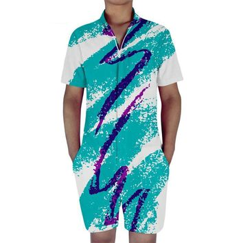 90s Paper Cup Solo Jazzy Pattern Rompers