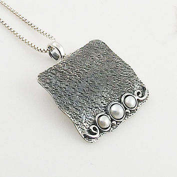 Pearl Sterling Silver Whimsical Pendant