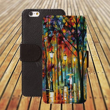 iphone 5 5s case Watercolor painting  rain forest iphone 4/4s iPhone 6 6 Plus iphone 5C Wallet Case,iPhone 5 Case,Cover,Cases colorful pattern L214