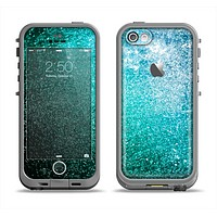 The Grungy Teal Texture Apple iPhone 5c LifeProof Fre Case Skin Set