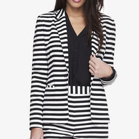 24 INCH HORIZTONTAL STRIPE KNIT BLAZER from EXPRESS