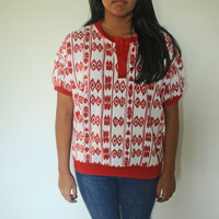 Aztec Vintage button shirt.