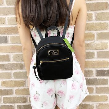 Kate Spade Wilson Road Mini Bradley Nylon Backpack Black