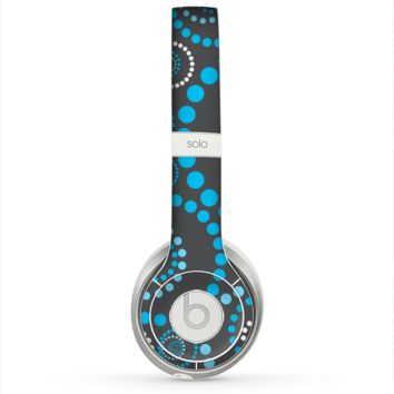 The Retro Blue Circle-Dotted Pattern Skin for the Beats by Dre Solo 2 Headphones