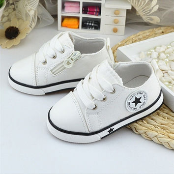New Baby Shoes Breathable Canvas Shoes 0-3 Years 4 colors