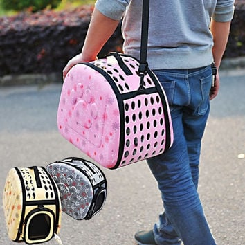 The big dog paw shell package of dogs and cats as pets box out portable shoulder pet bag