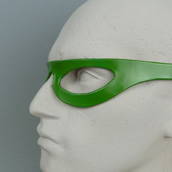 THE RIDDLER MASK in Leather. The Jim Carrey Design. Designed & Hand Crafted in Wales.