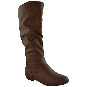 Womens Knee High Boots Brown