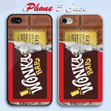Willy Wonka Inspired Golden Ticket Custom iPhone 5 Case Cover