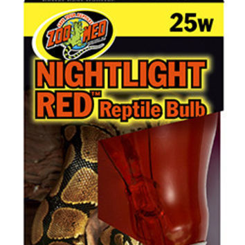 Zoo Med Nightlight Red Reptile Bulb, 25 Watts