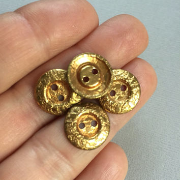 Brass Button Lot Small Gold Buttons Sewing Crafts