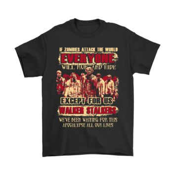 ESB8HB Everyone Except For Us Walker Stalkers The Walking Dead Shirts
