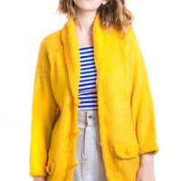 Vintage 70's Call Me Mellow Yellow Cardi - One Size Fits Many