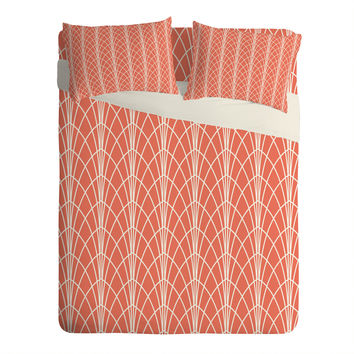 Heather Dutton Arcada Persimmon Sheet Set Lightweight