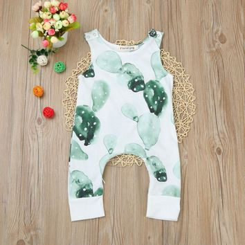 0-24M Newborn Baby romper Boys Girls Cactus Print Zipper Romper Jumpsuit Outfits Clothes drop shipping