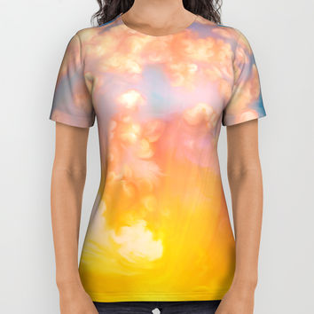 Sunset feather All Over Print Shirt by exobiology