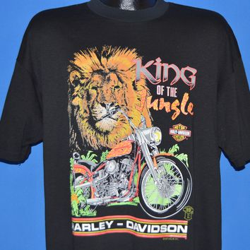 90s Harley Davidson King Of The Jungle t-shirt Extra Large