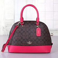 COACH Women Shopping Bag Leather Satchel Crossbody Handbag Shoulder Bag