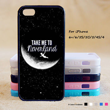Take to me neverland Peter Pan Phone Case For iPhone 6 Plus For iPhone 6 For iPhone 5/5S For iPhone 4/4S For iPhone 5C iPhone X 8 8 Plus