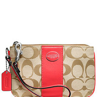 COACH LEGACY SIGNATURE SMALL WRISTLET - Handbags & Accessories - Macy's