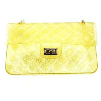 Gold Jelly Purse Bag Accessory
