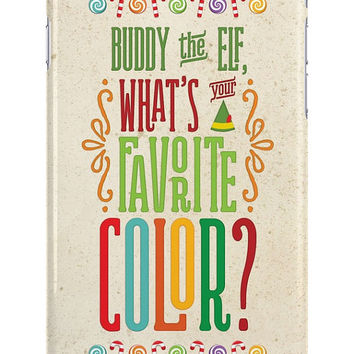 Buddy the Elf, What's Your Favorite Color? iPhone or Samsung Galaxy Case,  #buddytheelf #buddy #holidays #santa #phonecase #favoritecolor