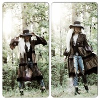 Upcycled hippie kimono, The Farrow bell sleeve Hippie duster kimono, True rebel clothing