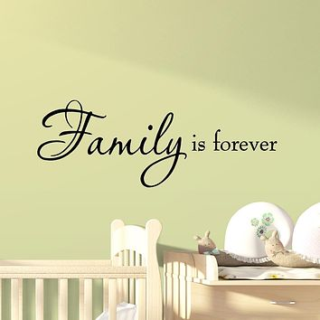 VWAQ Family is Forever Vinyl Wall Quotes Decal