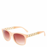 Retro Nudge Heart Chain Sunglasses