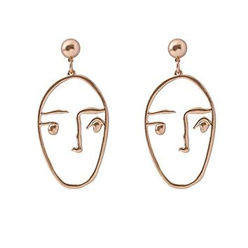 Statement Geometric Face Ethnic Earrings Skull Head Earrings for Women Cool Party Accessories