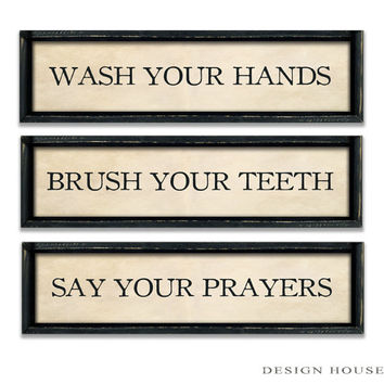 Bathroom rules bathroom decor Industrial signs Bathroom signs Powder room signs Custom signs Personalized signs restroom sign restroom decor