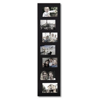 Decorative Black Wood Offset Wall Hanging Picture Photo Frame Collage for 4x6 (7 openings)