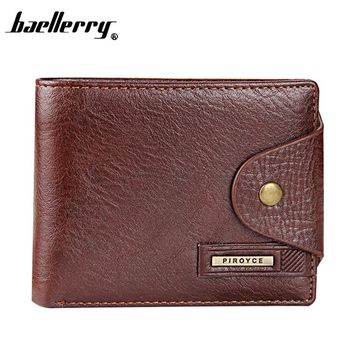 Baellerry Brand Genuine Leather Men's Wallet High Quality Cow Leather Guarantee Purse For Men Coin Wallet Man carteira wasculina