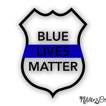 Thin Blue Line Police Lives Matter Car Decal Sticker