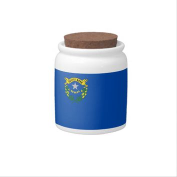 Nevada State Flag Candy Jar