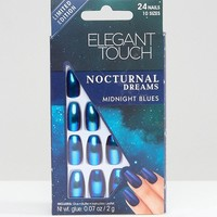 Elegant Touch Nocturnal Dreams Coffin Holographic False Nails at asos.com