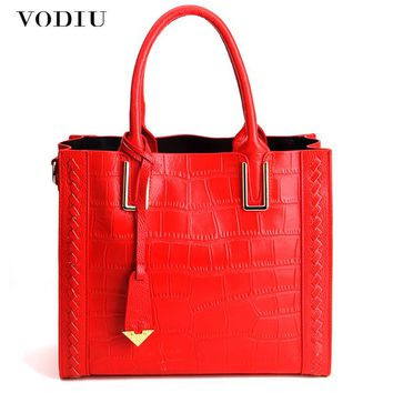 Women Bags Women Genuine Leather Handbag Cowhide Tassel Crocodile Pattern Large Capacity Totes Sling Bag Women's Shoulder Bag