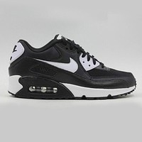 NIKE AIR MAX 90 Popular Women Men Casual Sport Running Shoe Sneakers Black Black Sole I