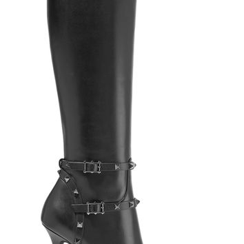 Rockstud leather knee boots | Valentino | US | THE OUTNET
