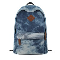 ZLYC Denim Dye Blue Backpack