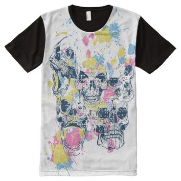 T-Shirt Various Skulls All-Over Printed