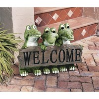 SheilaShrubs.com: Ragin' Cajun Crocodile Welcome Statue EU10544 by Design Toscano: Garden Sculptures & Statues
