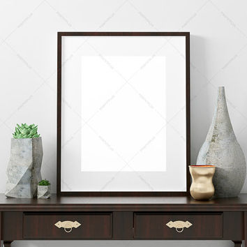 Poster Frame Photography Style / Frame Mockup / Poster Mockup/ wood frame / poster  mockup