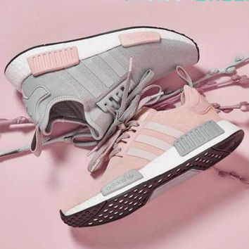 ADIDAS Women Running Sport Casual Shoes NMD Sneakers Pink